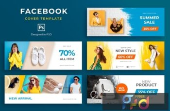Fashion Facebook Cover Template ZCDA63G