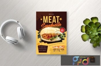 Food Flyer Vol 8 5UX7E9K 6