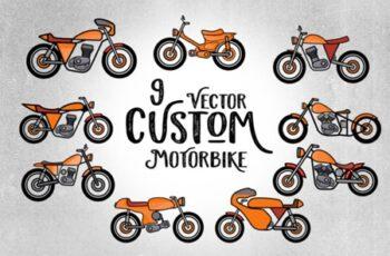 9 Custom Motorbike Vector 1738599 4