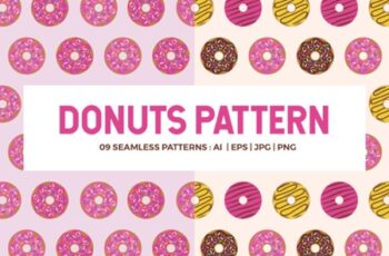 Donuts Seamless Patterns 1738504 6