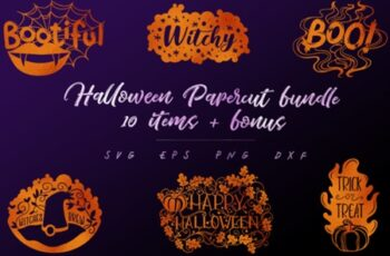 Halloween Papercut Bundle-10 Items+Bonus 1738521 3