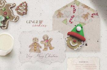 8 Gingerbread Cookies in Watercolor 1738213 3