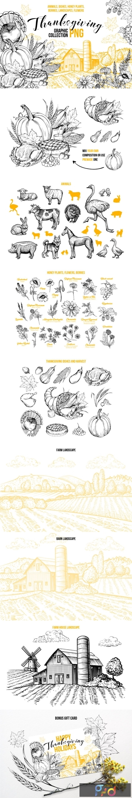 Thanksgiving Graphics Collection 1738200 1