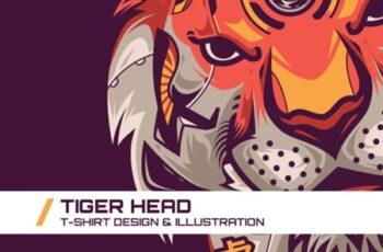 Tiger Head T-Shirt Illustration 1738077 6
