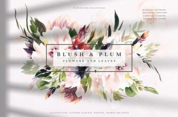 Watercolor Blush & Plum 3979212 6