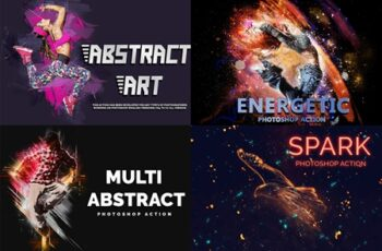4 in 1 Abstract Art Photoshop Action 4046990 8