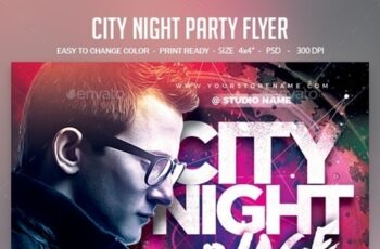 City Night Party Flyer 24428799 2