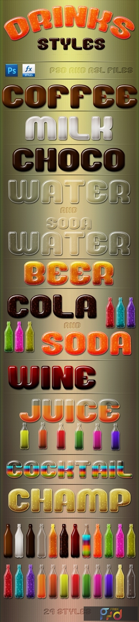 Drinks Styles Text Effects 24392259 1