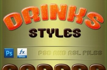 Drinks Styles Text Effects 24392259 7