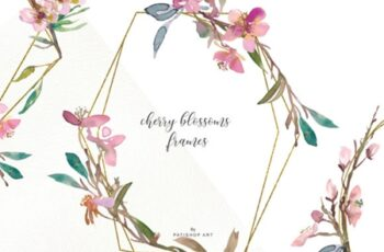 Watercolor Cherry Blossoms Frames 1585475 7