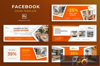Furniture Facebook Cover Template JP6EM8F 5