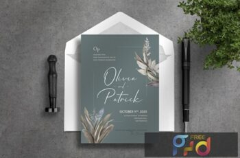 Deluxe Wedding Invitation AMTFQK5 5