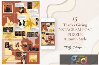 Thanksgiving Autumn Instagram Post Puzzle WFTLJ36 6
