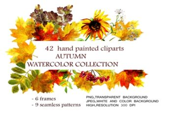 Autumn Watercolor Collection 1743371 7