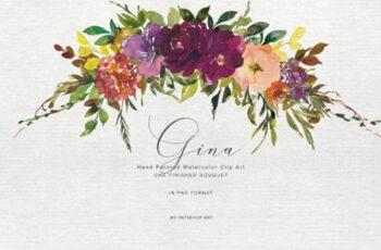 Watercolor Autumnal Bouquet Clipart 1743249 5