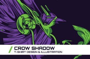 Crow Shadow T-Shirt Illustration 1745106 2