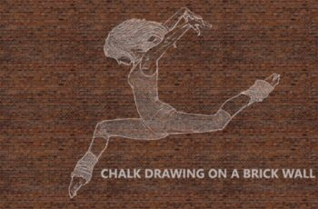 Chalk Drawing on Brick Wall - Ps Action 1760741 15