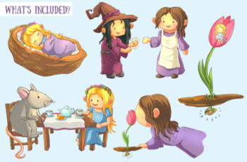 Thumbelina Clip Art Collection 1745072 8