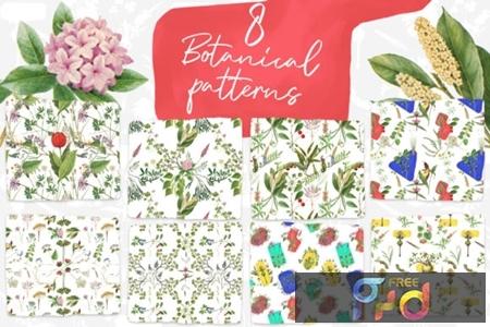 8 Vintage Botanical Patterns 1736070 1
