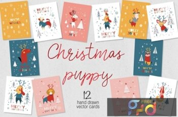 Christmas cards for puppies PR4Y9ZM 5