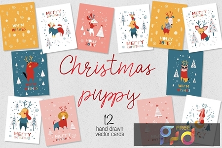Christmas cards for puppies PR4Y9ZM 1
