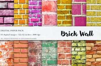 Wall Digital Paper Pack Textures 1746501 12