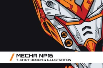 Mecha NP16 T-Shirt Illustration 1747088 7