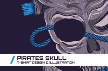 Pirates Skull T-Shirt Illustration 1747090 7