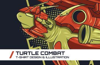Turtle Combat T-Shirt Illustration 1747089 5