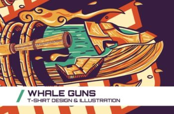 Whale Guns T-Shirt Illustration 1747091 2