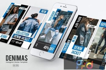 Denim Clothing Instagram Stories PSD & AI Template MX2ZGNP 3