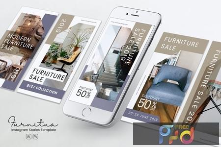Furniture Instagram Stories PSD & AI Template YNEU26J 1