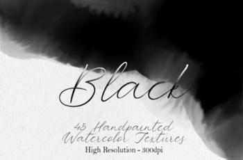 Black - 45 Watercolor Textures 1750158 2