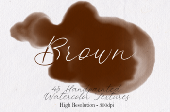 Brown - 45 Watercolor Textures 1750155 3