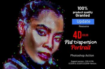 4D Color Pixel Portrait Action 4066638 7
