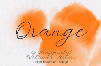 Orange - 45 Watercolor Textures 1750136 7