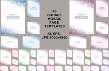 40 Square Mosaic Page Templates 1748660 8