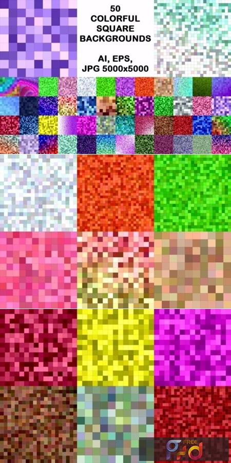 50 Colorful Square Backgrounds 1748651 1
