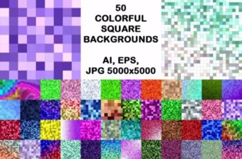 50 Colorful Square Backgrounds 1748651 8