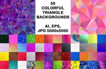 50 Colorful Triangle Backgrounds 1748650 7