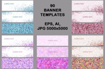 90 Mosaic Banner Template Designs 1748668 5