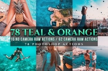 72 PRO Orange & Teal Photoshop Actions 24495729 6