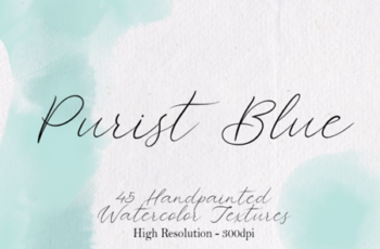 Purist Blue - 45 Watercolor Textures 1749692 6