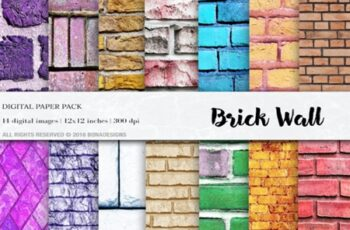 Wall Digital Paper Pac, Brick Wall 1748919 4