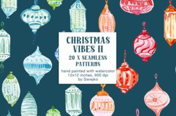 Christmas Vibes II, Seamless Patterns 1779411 5