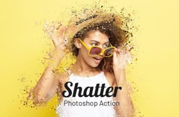 Shatter Photoshop Action 4077209 4