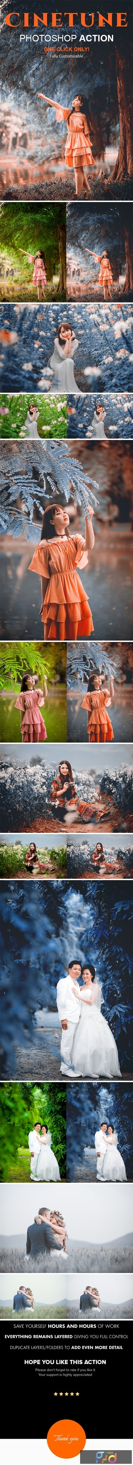 Cinetune cinematic color grading Effects Photoshop Action 24460869 1