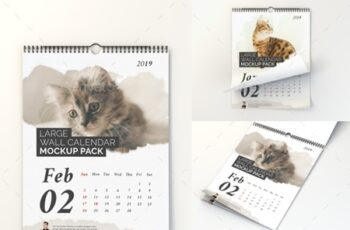 Large Wall Calendar Mockup Pack 22857806 5