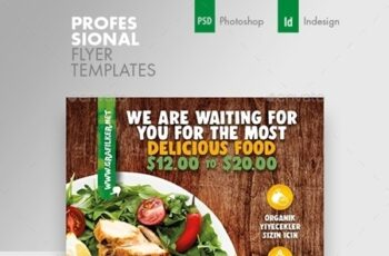 Healthy Food Flyer Templates 24535664 5