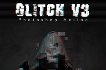Glitch V3 Photoshop Action 24469094